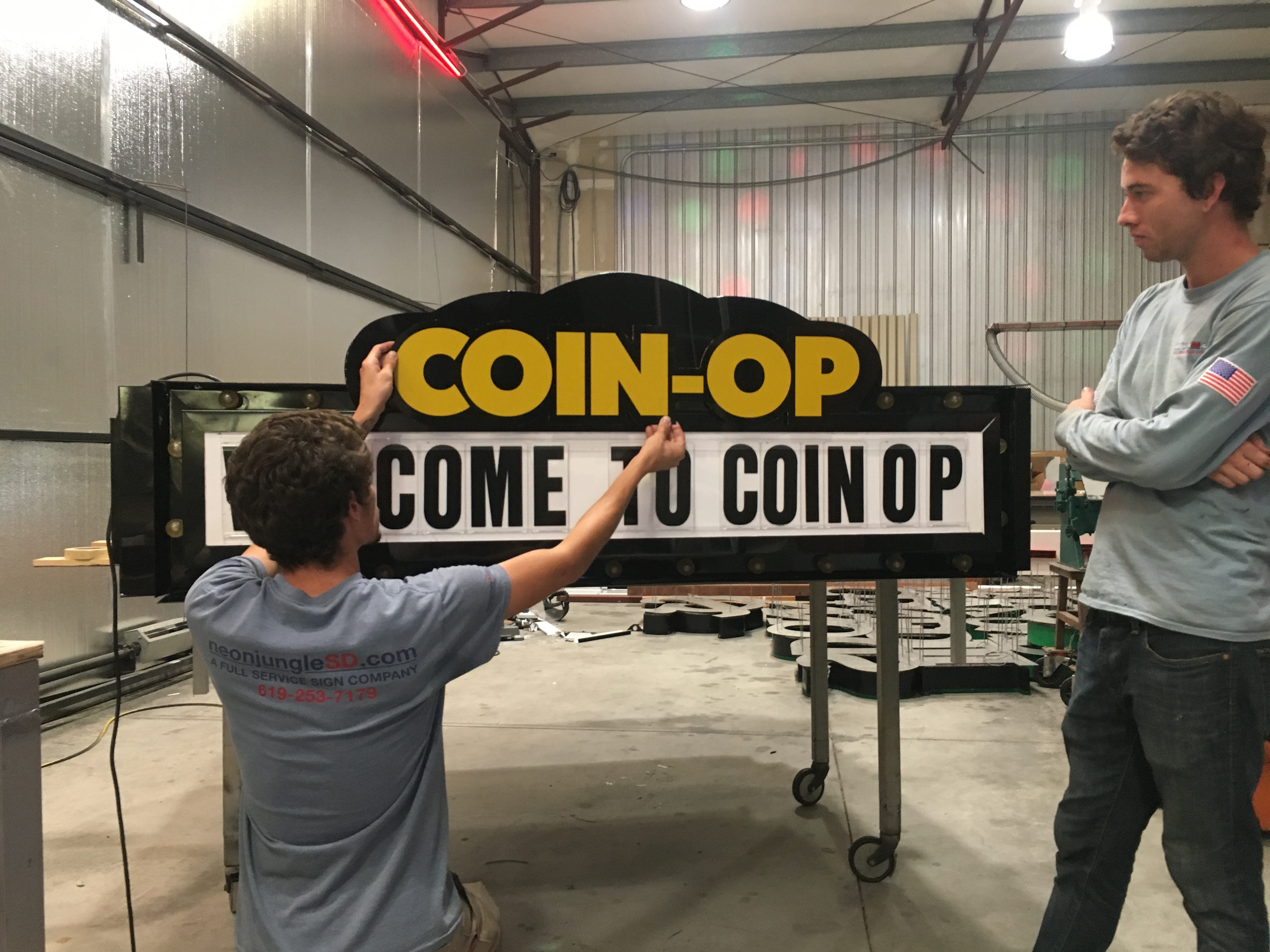 COIN-OP Fabrication - Marquee Front