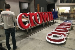 Crown Aviation Custom Sign Fabrication Project