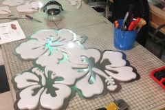 Lani Coffee Fabrication Flowers Aluminum Cut Out