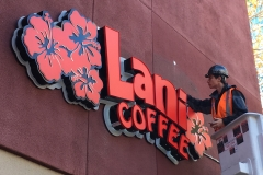 Lani Coffee Installation Day Bucket Truck