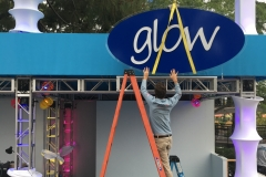 SeaWorld Glow Installation