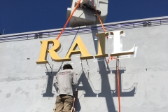 THE RAIL Side Installation Channel Letters