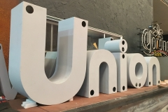 Union Cowork Fabrication Channel Letters