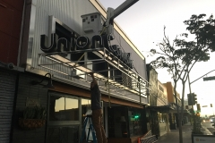 Union Cowork Installation Bucket Truck