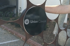 Union Cowork Fabrication Inside Sign