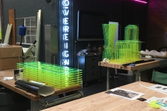 Xanadu 7D Theater Fabrication Half Inch Florescent Acrylic