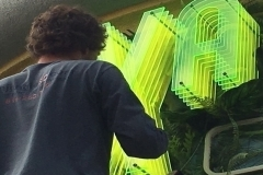 Xanadu 7D Theater Installation Half Inch Florescent Acrylic