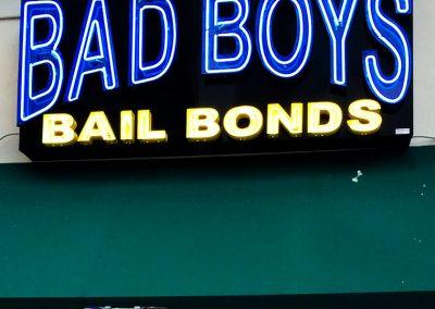 BAD BOYS BAIL BONDS SIGN
