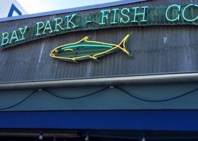 BAY PARK FISH CO. SIGN REPAIR