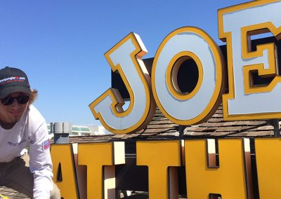 JOE'S CRAB SHACK SIGN REPAIR