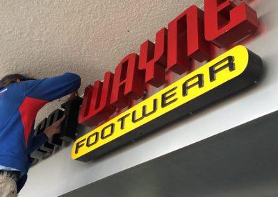 ROBERT WAYNE FOOTWEAR SIGN REPAIR