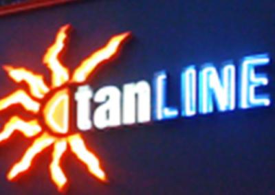 TAN LINE SIGN